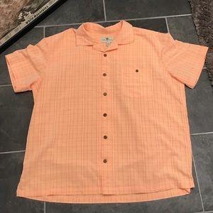 Island Shore Short Sleeve Aloha Hawaiian Shirt XXL